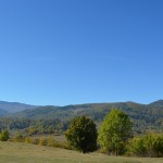 Nemira Mountains - view from the park of the Stirbey family's Castle